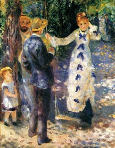 L'opera di Auguste ha ispirato una delle scene centrali del film di Jean Renoir, Partie de campagne. Pierre-Auguste Renoir,(1841-1919), La balançoire, 1876, Olio su tela, Musée d'Orsay, Parigi.