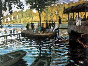 Claude Monet, Bain à la Grenouillère, 1869, Olio su tela, New York Metropolitan Meuseum of Art.